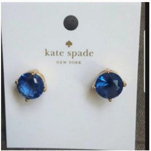 Kate spade royal blue stud earrings nwt
